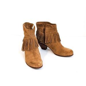 Gianni Bini FAY Fringe Ankle HEELED Boots